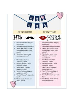 Wedding Magazine The Mr And Mrs Quiz How Well Do You Know Each