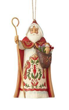 Enesco Jim Shore Heartwood Creek Santa with Birdhouse NIB Item # 4034363
