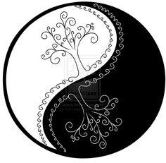 Yin Yang Trees by ~Sol-Lepus on deviantART