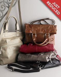 Sofia Convertible Leather Bag - Garnet Hill