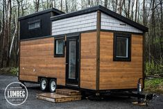 The Lumbec Tiny House. Made in Quebec, Canada, this stunning tiny house retails between $45,000 to $65,000 for a full model, depending on size.