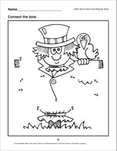 Dot-to-Dot - Scarecrow: 1st Grade Puzzles