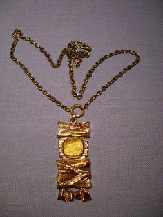 Pentti Sarpaneva -- Necklace --- Tiger eye stone