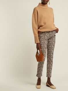 260a49ad5320 Leopard-print slim-leg trousers | Rebecca Taylor | MATCHESFASHION.COM UK