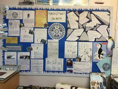 Ks2 Display, Mr Popper's Penguins, Play Corner, Homework Ideas, 5th Class, Classroom Bulletin Boards, Year 6, Classroom Displays, Winter Art