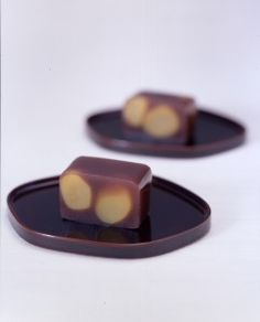 red bean jelly cake and chestnuts