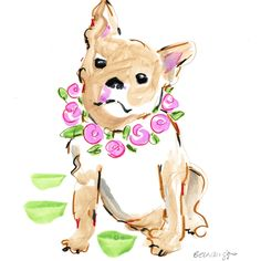 Is your fur baby celebrating a milestone? Like sleeping through the night or not barking at strangers? Celebrate with a whimsical watercolor custom pet portrait!