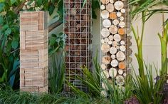 Create an impressive trio of gabion pillars.