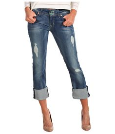 Hudson Ginny Crop Straight W/ Cuff In Blondie - Blugi - Imbracaminte - Femei - Magazin Online Imbracaminte Stylish Outfits, Cool Outfits, Fashion Outfits, Destroyed Jeans, Playing Dress Up, Latest Fashion Trends, Everyday Fashion, Autumn Winter Fashion, What To Wear