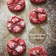 cake mix, dessert, cookie, red velvet, easy, quick  You can use any boxed cake mix in this recipe to make crinkle cookies...Try Lemon and Chocolate!