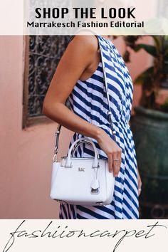 Idee: Wir fliegen für das Michael Kors Shooting nach Marrakesch! Gesagt, recherchiert, gebucht. So kam es, dass wir Anfang letzter Woche für 1 1/2 Tage in die marokkanische Hauptstadt flogen. #marrakesh #michaelkors #fashion Fashion Shoot, Editorial Fashion, Shoulder Dress, One Shoulder, Mode Editorials, Michael Kors, Shopping, Tops, Dresses