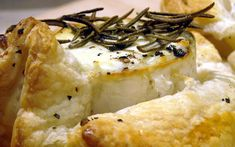 Golden Cross is a gorgeously creamy goats cheese that's a bit sweeter than others. It's the ideal cheese to wrap up in ready made puff pastry with some seasoning and a sprig of rosemary. Cheese Log, Goat Cheese, Cheese Tarts, Camembert Cheese, Tarts Recipe, Cheesy Recipes, Goats, Oven, Favorite Recipes
