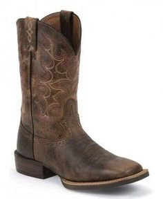 Justin Men's Silver Antique Brown Cowboy Boot [SV7216]