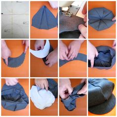 Pattern to make a cap. Hat Patterns To Sew, Doll Clothes Patterns, Sewing Patterns, Baby Sewing Projects, Sewing Hacks, Mode Turban, Hat Tutorial, Father's Day Diy, Diy Hat