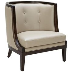 Walters Taupe and Espresso Armchair