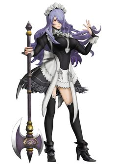 View an image titled 'Camilla, Maid Costume Art' in our Fire Emblem Warriors art gallery featuring official character designs, concept art, and promo pictures. Fire Emblem Awakening, Fire Emblem 4, Fire Emblem Warriors, Female Character Design, Character Art, Fire Emblem Fates Camilla, Trinidad, Polaris Marvel, Really Cool Drawings