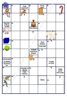 Joc de copii: Integrama ilustrată 12 Tracing Worksheets, Preschool Worksheets, 4 Kids, Cool Kids, Romanian Language, Printed Pages, After School, Kids Education, Board Games