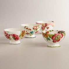 One of my favorite discoveries at WorldMarket.com: Nomad Flower Bowls, Set of 4 .....$27.0