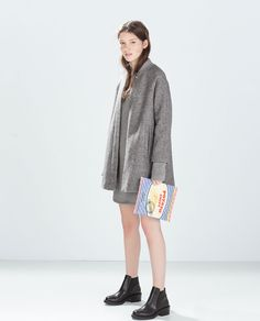 ZARA - WOMAN - KNIT CAPE WITH SLEEVES