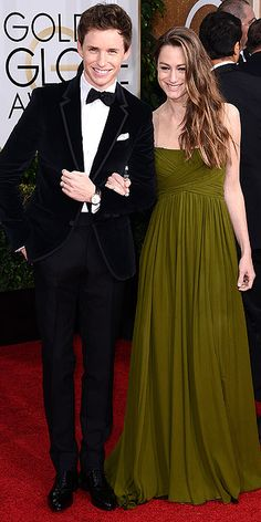 Golden Globe Awards 2015: Arrivals : People.com  Eddie Redmayne and Hannah Bagshawe _MOST BEAUTIFUL COUPLE AWARD