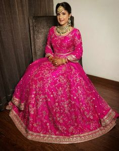 Bridal Lehenga Collection, Dress Styles, Ball Gowns, Fashion Dresses, Bride, Formal Dresses, Pink, Beautiful, Ball Gown Dresses