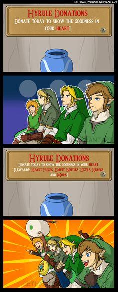 Of course Link always gets a reward
