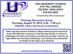 Join us at The University Church for our Theology Discussion Group.