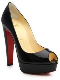 Christian Louboutin Alta Nana Patent Leather Platform Pumps