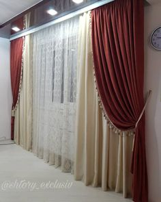 32 фото французкие шторы в интерьере Curtains And Draperies, Drapery, Valance, Drip Art, Beige Living Rooms, Modern, Projects, Design, Home Decor