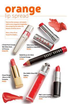 Orange lip trend #beautysouthafrica