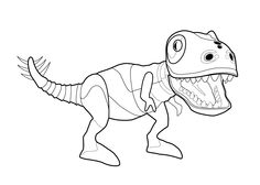 Zoomer Dino Dinosaur Coloring Page For Kids Printable Free