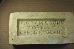 "ANTIQUE BRICK ""NGHAM & SONS WORTLEY LEEDS ENGLAND"""