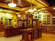 *sigh*  I like our modern pharmacies, of course, but this is just beautiful.