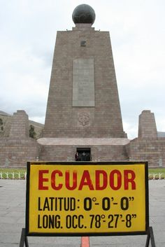 Cross the Equator (Visit Southern Hemisphere) - Equator @ Ecuador