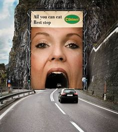 Open your mouth baby #Guerilla #Marketing