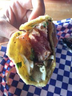 Turf N Surf Po' Boy - Austin, TX, United States. Seared ahi tuna tacos