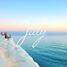 And As Always This Year Is Flying By. Hello July! (Made With The Fonts  Windsong And League Gothic In #PicLab)