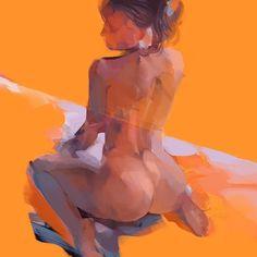 OrangeBeautyStudy #painting #study #contemporaryart #arts_gate #nude_art #eroticart #fineart #figurativeart