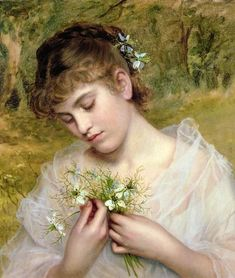 Love in a Mist ~ Sophie Gengembre Anderson ~ (French: 1823-1903):