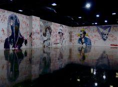 """Goyang museum, wall drawing réalisé pour l'exposition """"Bonjour la France"""", (part 2)."""
