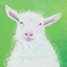 Goat painting  by JanMatsonArt, $125.00