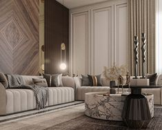 Men's Majles with Neoclassic style on Behance Living Room Sofa Design, Home Room Design, Dining Room Design, Elegant Living Room, Living Room Modern, Home Living Room, Neoclassical Interior Design, Luxury Interior Design, Estilo Interior