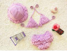 $16.98 (Buy here: https://alitems.com/g/1e8d114494ebda23ff8b16525dc3e8/?i=5&ulp=https%3A%2F%2Fwww.aliexpress.com%2Fitem%2F2016-New-summer-girls-cute-lace-swimming-bikini-two-pieces-child-swimsuit-infant-kids-beach-swimwear%2F32700009021.html ) New summer baby girls lace swimming bikini two pieces child swimsuit infant kids beach swimwear bathing suit +hat  traje de bano for just $16.98