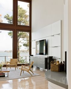 Cotuit Bay Residence contemporary-living-room