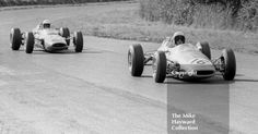 Brian Hart, Lotus 35, Oulton Park Gold Cup, 1965 and Alan Rollinson, F2 DW Racing Brabham BT16 Cosworth
