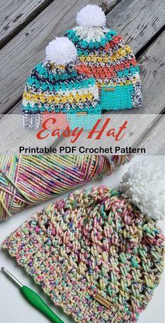 Too CUTE, love pattern! Love the chunky crochet pattern, bet it's warm! Crochet Slouchy Beanie Pattern, Crochet Adult Hat, Crochet Toddler, Crochet For Boys, Chunky Crochet, Crochet Baby, Crochet Crafts, Crochet Projects, Yarn Crafts