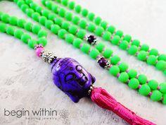 Neon MALA / Prayer Beads by BeginWithinJewelry