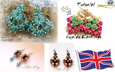 Special Offer 3 patterns in  PDF beading of Earrings with