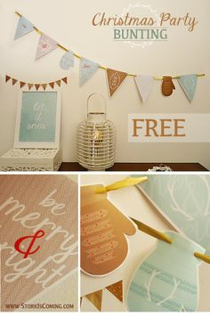 printable bunting for christmas party