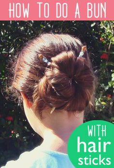 How to do a Bun using the Lilla Rose Hair Sticks! Quick and easy!